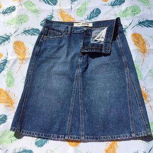 Gap Denim A-Line Jean Skirt Dark Wash Pockets 8